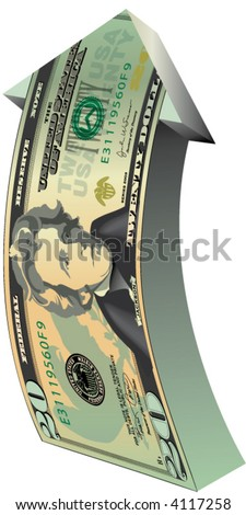 Twenty Dollar Bill Arrow
