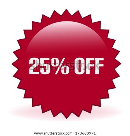 Twenty Five Percent Discount Sticker - stock vector