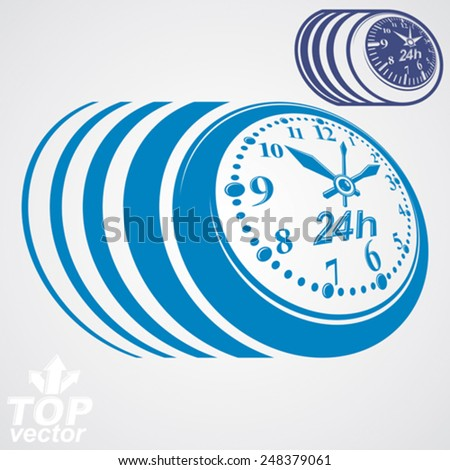 Twenty-four hours a day conceptual vector eps 8 highly detailed illustration. 24 hours icon, includes additional version. - stock vector