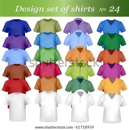 Twenty-fourth design shirt set. Vector. - stock vector