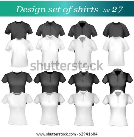Twenty-six design shirt set. Vector. - stock vector