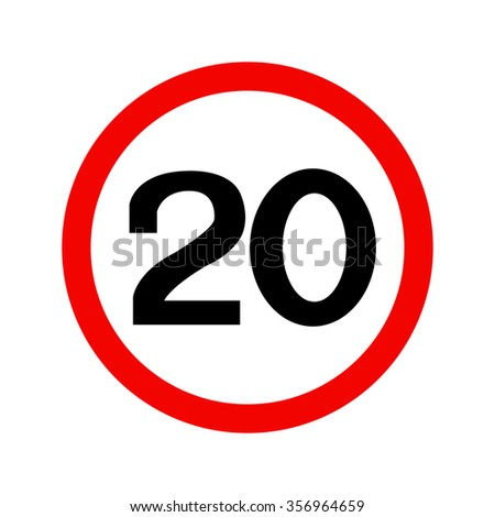 Twenty Speed Limit Sign