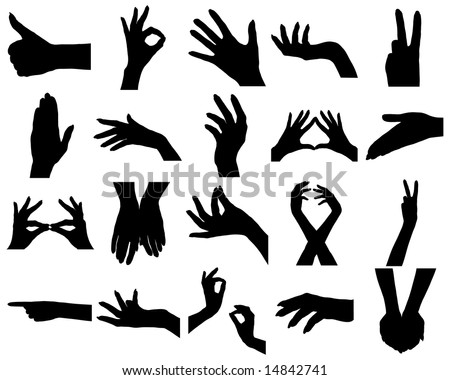 Hand silhouette on gesture drawing app
