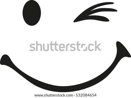 twinking smiley face stock vector 532084654 shutterstock rh shutterstock com smiley vector logo smile vector black vector