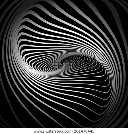 Twirl illusion. Abstract vector illustration. - stock vector