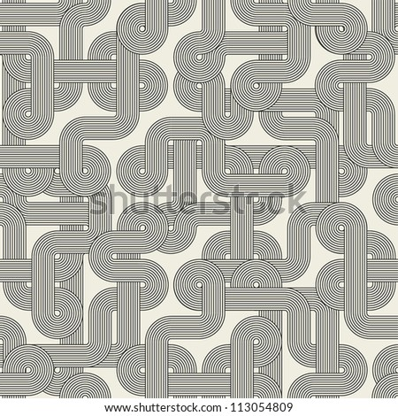 Twisted lines. Seamless abstract pattern. Vector illustration - stock vector
