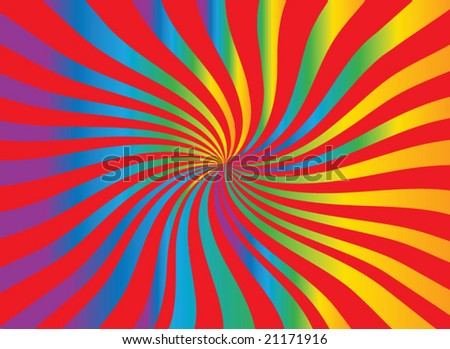 Twisting Star Burst with movement - stock vector