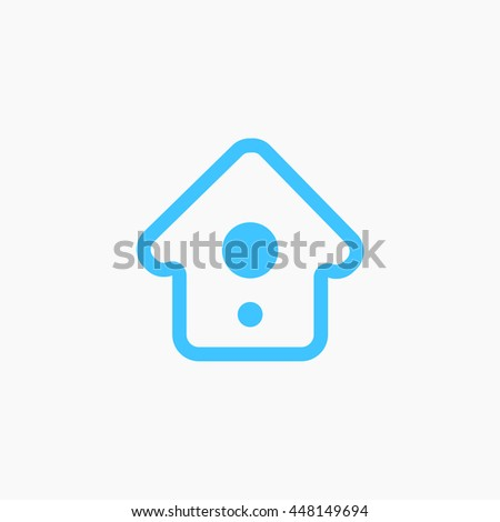 twitter home icon tweet homepage eps stock vector royalty free