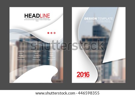 Two A4 size, annual report marketing business corporate design template. eps10 vector - stock vector