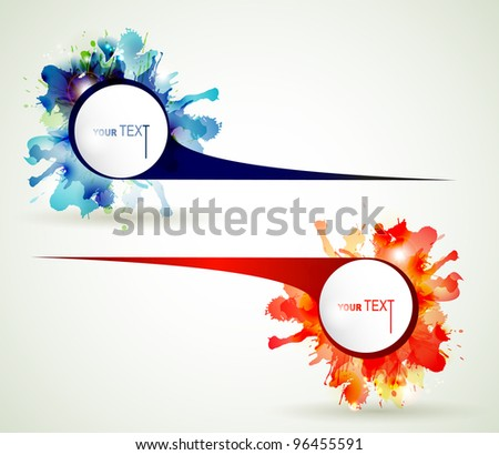 Two Abstract  emblem  with place for your text - stock vector
