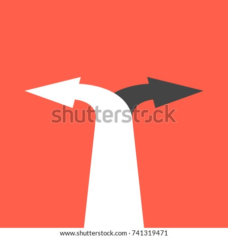 Two Arrows Pointing Different Directions Choice Stock ...