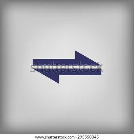 two arrows pointing in different directions icon  - stock vector