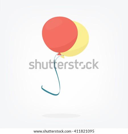 two balloons - stock vector