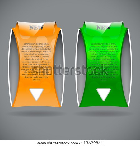 Two banners, eps10 - stock vector