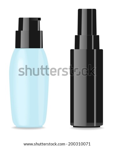 Two blank glamour cosmetic packages. Place for your text. Vector. - stock vector