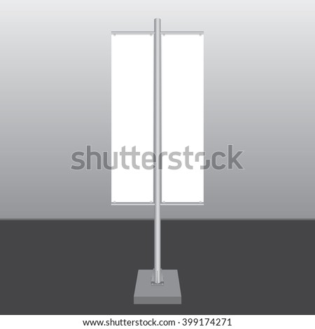 Two blank Signage banner on the post - stock vector