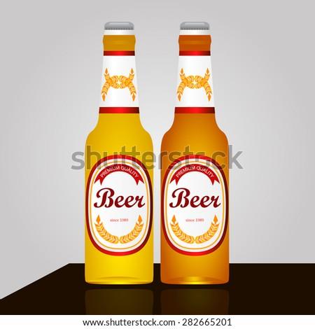 two bottles of light dark very dark   - stock vector