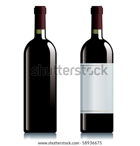 Two bottles of red wine.