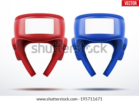 Two Boxing helmets.  - stock vector