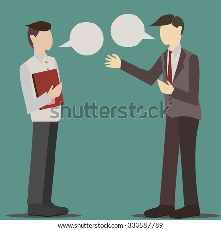 two business man's conversation - stock vector