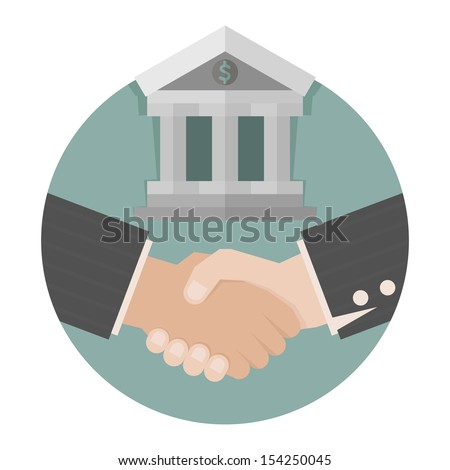 Two business man shakehand  , eps10 vector format - stock vector