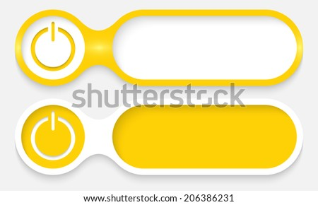 two buttons for entering text with power button - stock vector