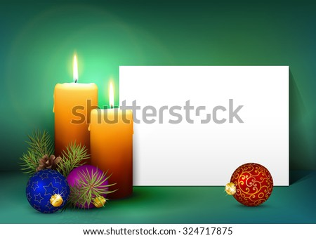 Single Candle White Paper Panel On Vector 324707858 – Free White Paper Template