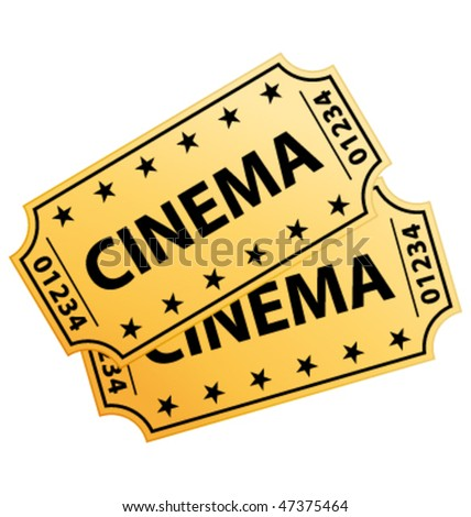 Two cinema tickets. Vector illustration. - stock vector