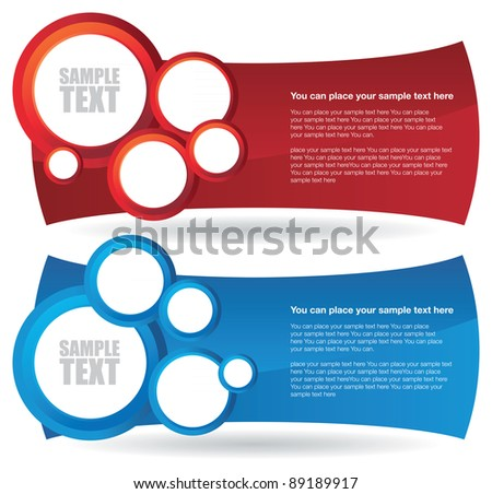 two circle banner backgrounds - stock vector