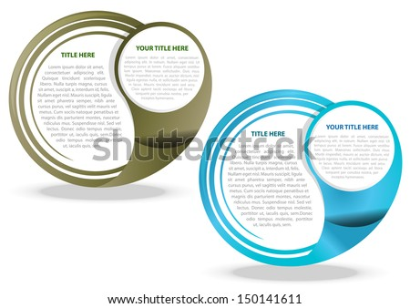 Two color vector abstract background for text - stock vector