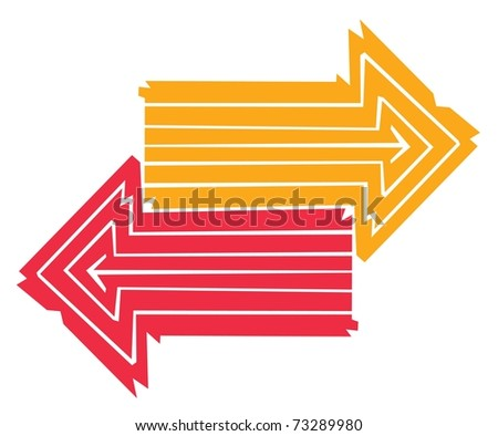 Opposite Direction Stock Photos, Illustrations, and Vector Art