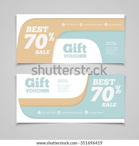 Gift Voucher Template Amount Discount Contact Vector – Lunch Voucher Template