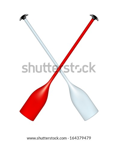 Two crossed paddles  - stock vector