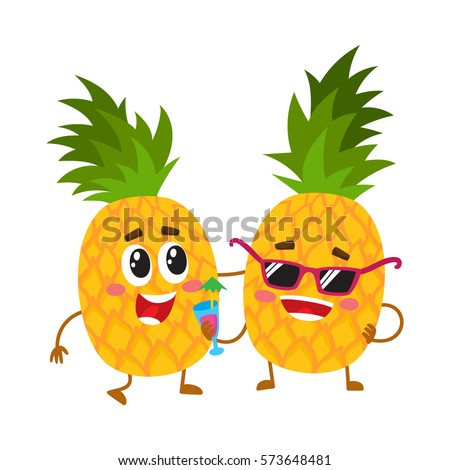 Pineapple character stock images royalty free images - Ananas dessin ...