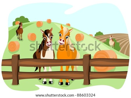 Farm Fence Clipart horse farm fence stock images, royalty-free images & vectors