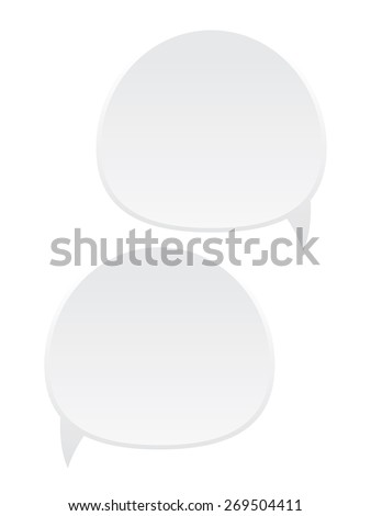 Two dialog boxes in white color on white background. - stock vector