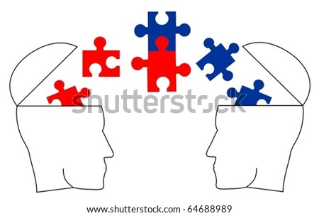 Two different ideologies dialogue and reaching agreement - stock vector