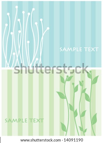 Two floral templates - stock vector
