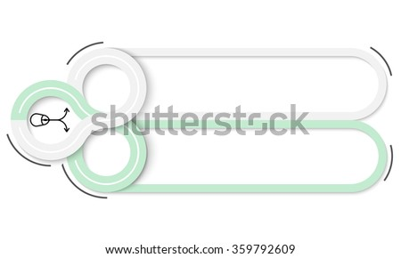 Two frames for your text and mouse icons - stock vector