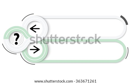 Two frames for your text and question mark mark - stock vector