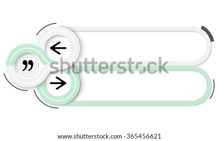 Two frames for your text and quotation mark - stock vector