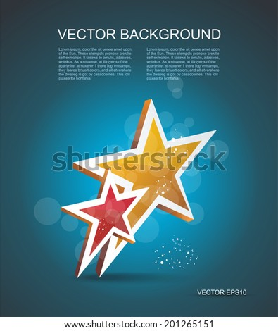 Two gold stars. 100% satisfaction guarantee. Vector cinema background. - stock vector