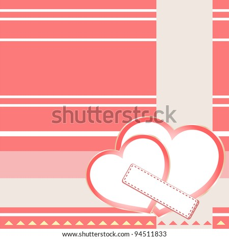 Two Hearts St Valentines Background Wedding Stock Vector 94511833