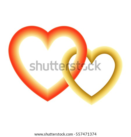 Two Hearts Symbol Unity Loyalty Love Stock Vector 557471374