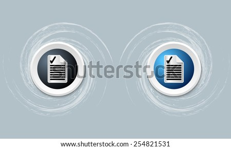 two icon and document icon and check box - stock vector