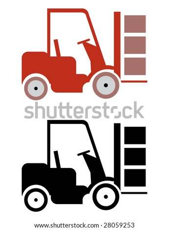 two lifter icons in vector mode - stock vector
