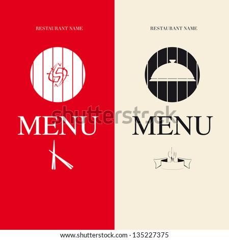 Two Menu for restaurant - stock vector