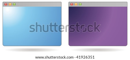 two mini web browsers for blog or web illustration - stock vector