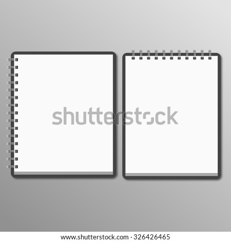Two notebook. horizontal and vertical - stock vector