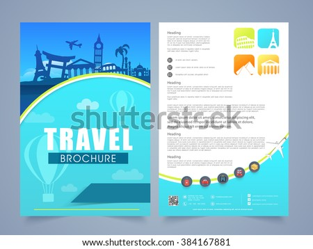 Two Page Brochure Template Flyer Design Stock Vector - Two page brochure template
